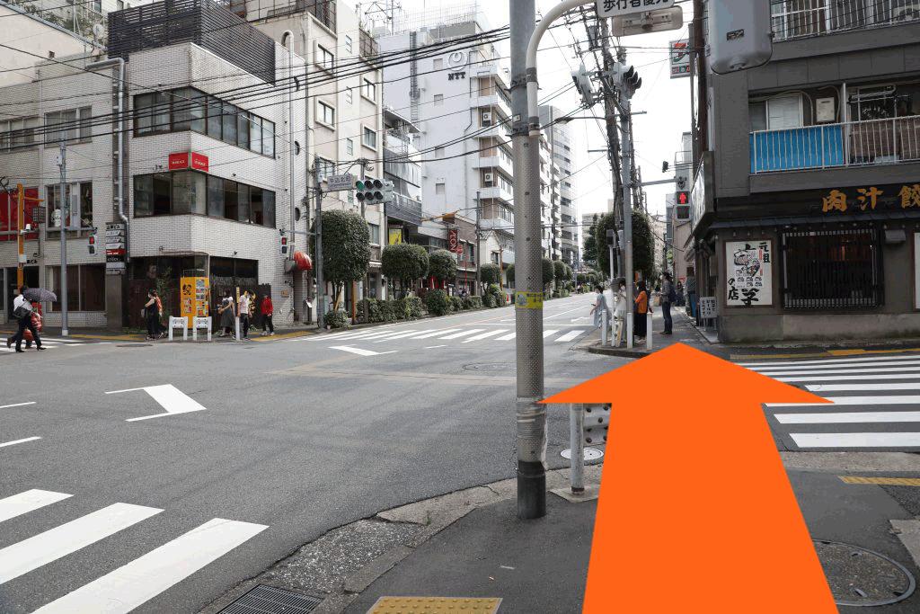 牛込神楽坂駅から当院までの道順2