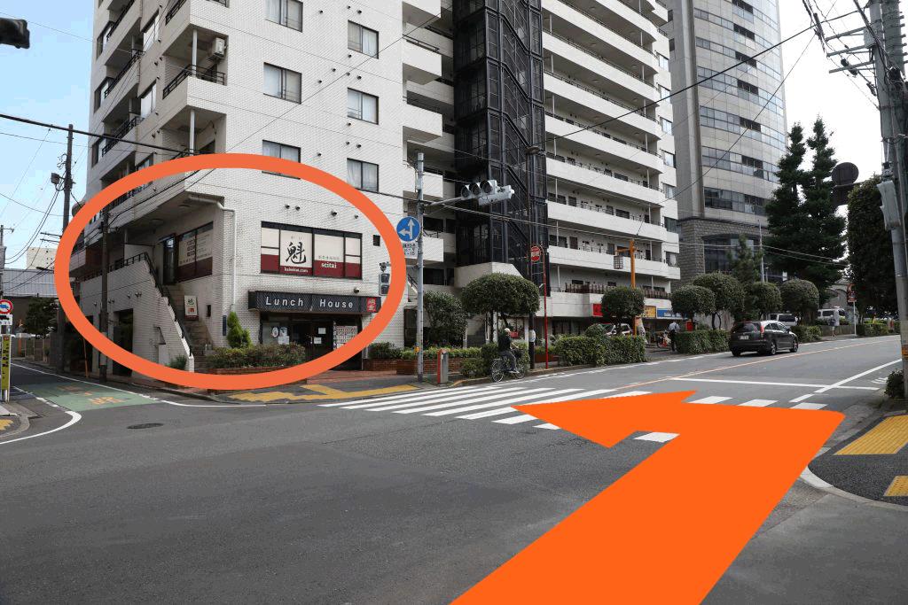 牛込神楽坂駅から当院までの道順3
