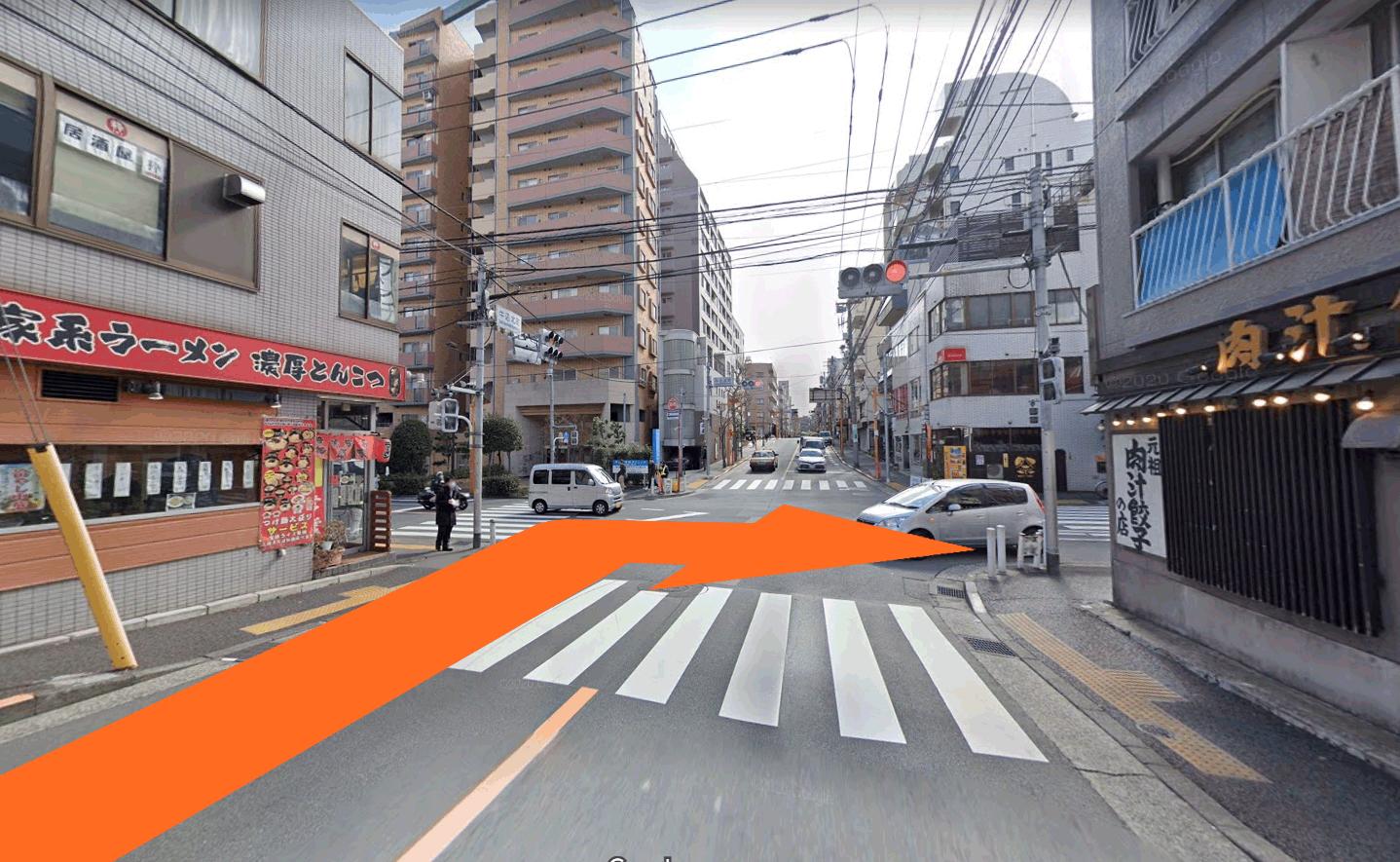 神楽坂駅から当院までの経路3