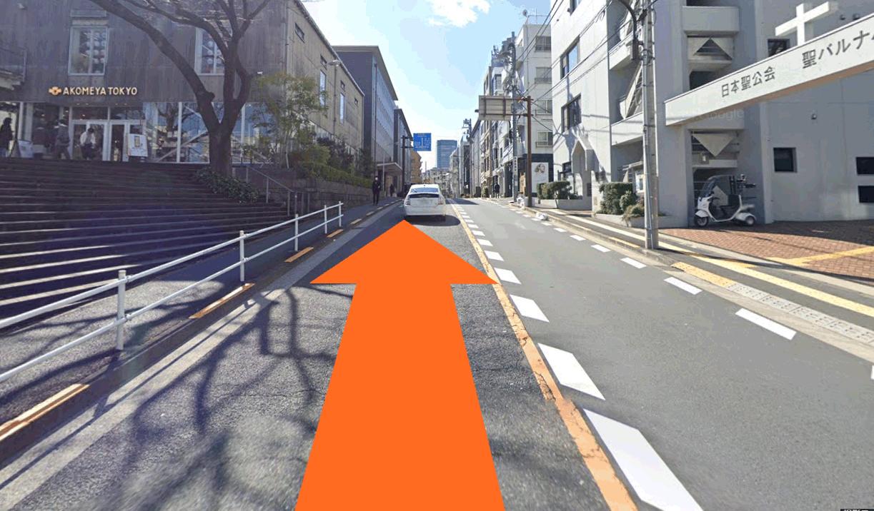 神楽坂駅から当院までの経路2